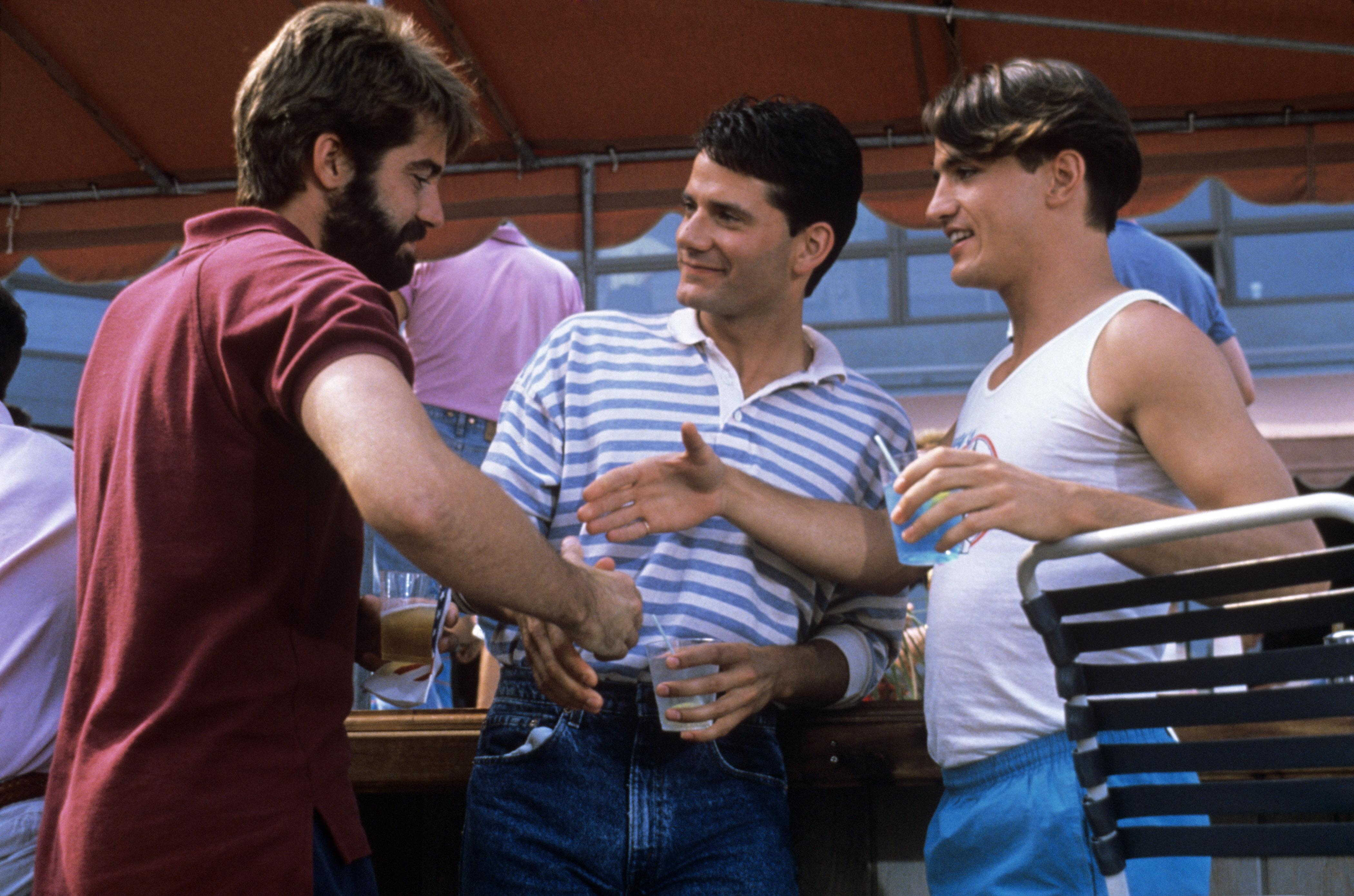 "From left: Stephen Caffrey, Campbell Scott andDermot Mulroney in ""Longtime Companion."""
