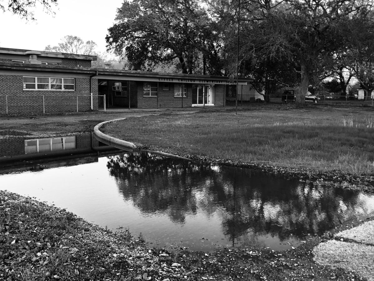 Little Caillou Elementary in Chauvin, Louisiana, closed in 2007 due to population declines.