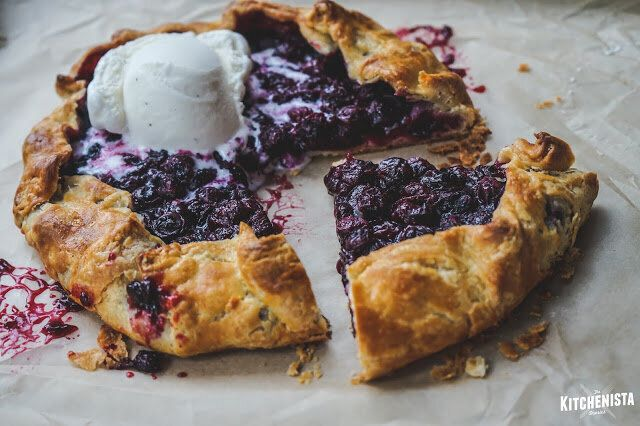 Blueberry Galette with Buttermilk Pie Crust from The Kitchenista