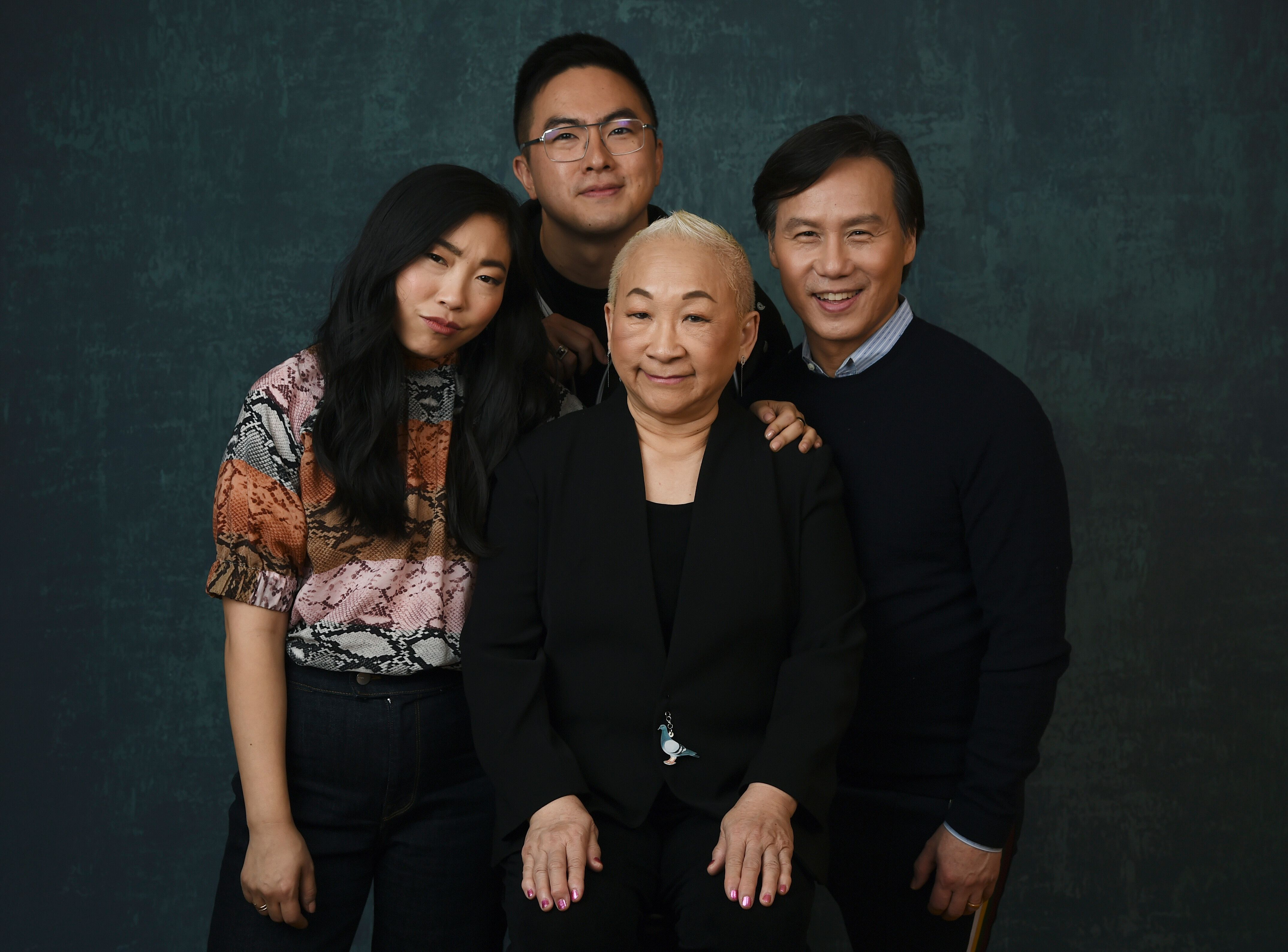 "Wong (on right) with his ""Awkwafina is Nora from Queens"" co-stars Awkwafina, Bowen Yang and Lori Tan Chinn."