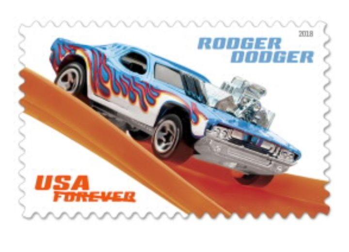 Hot Wheels Stamp, $0.55