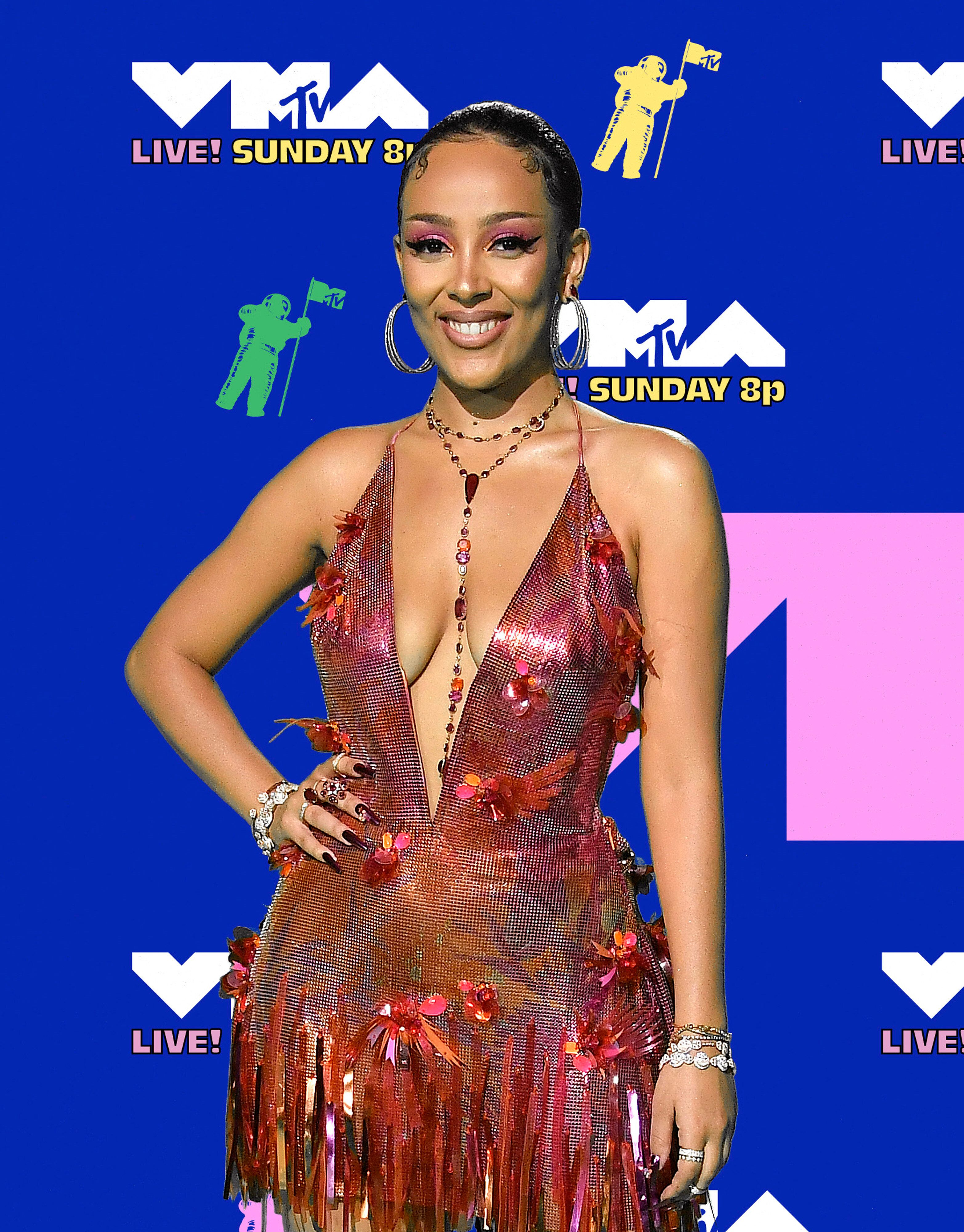 UNSPECIFIED - AUGUST 30: (EDITORS NOTE: Image has been digitally enhanced.) Doja Cat attends the 2020 MTV Video Music Awards,