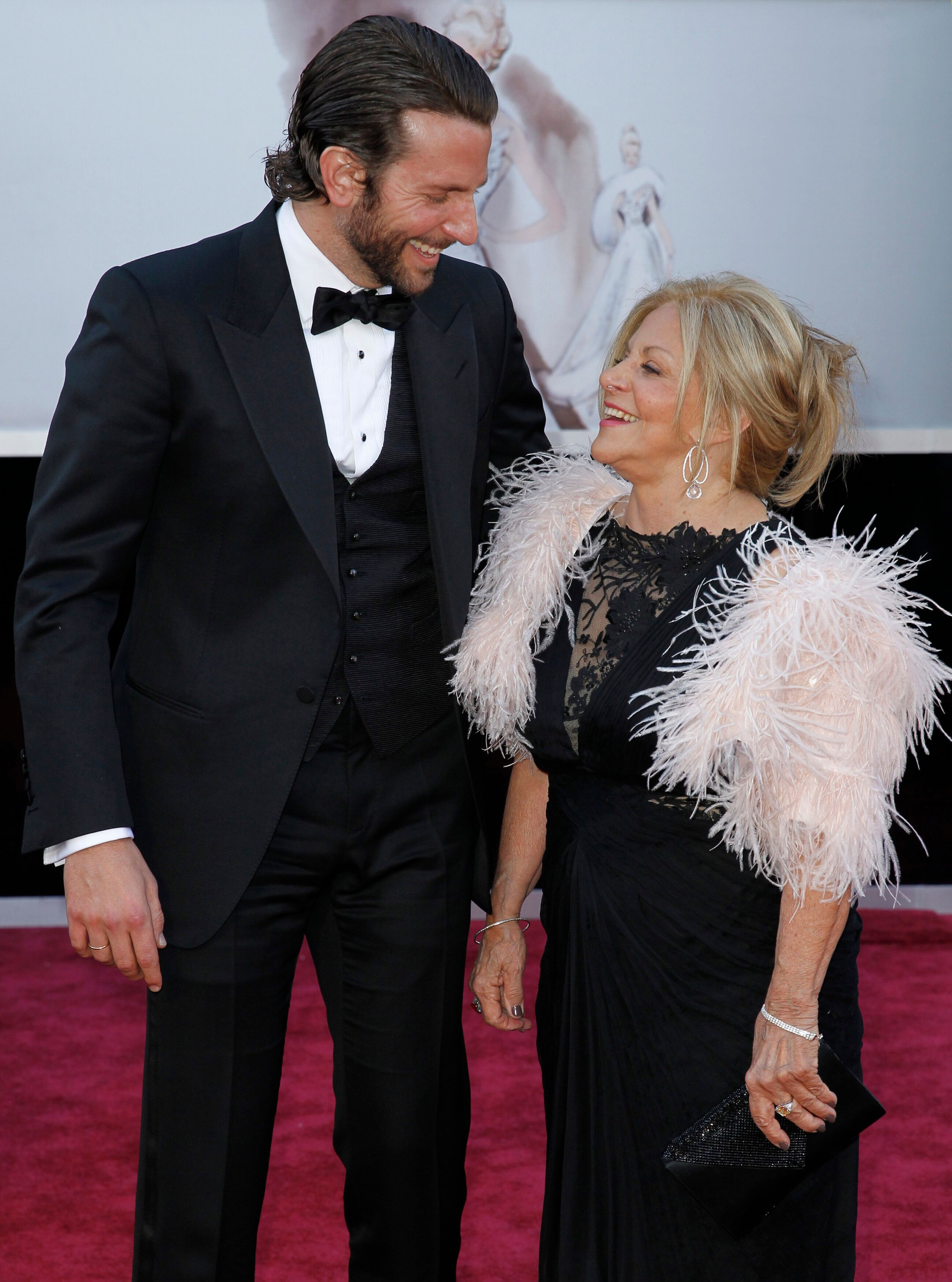 Bradley Cooper and his mother Gloria also made the scene at the 2013 Oscars.