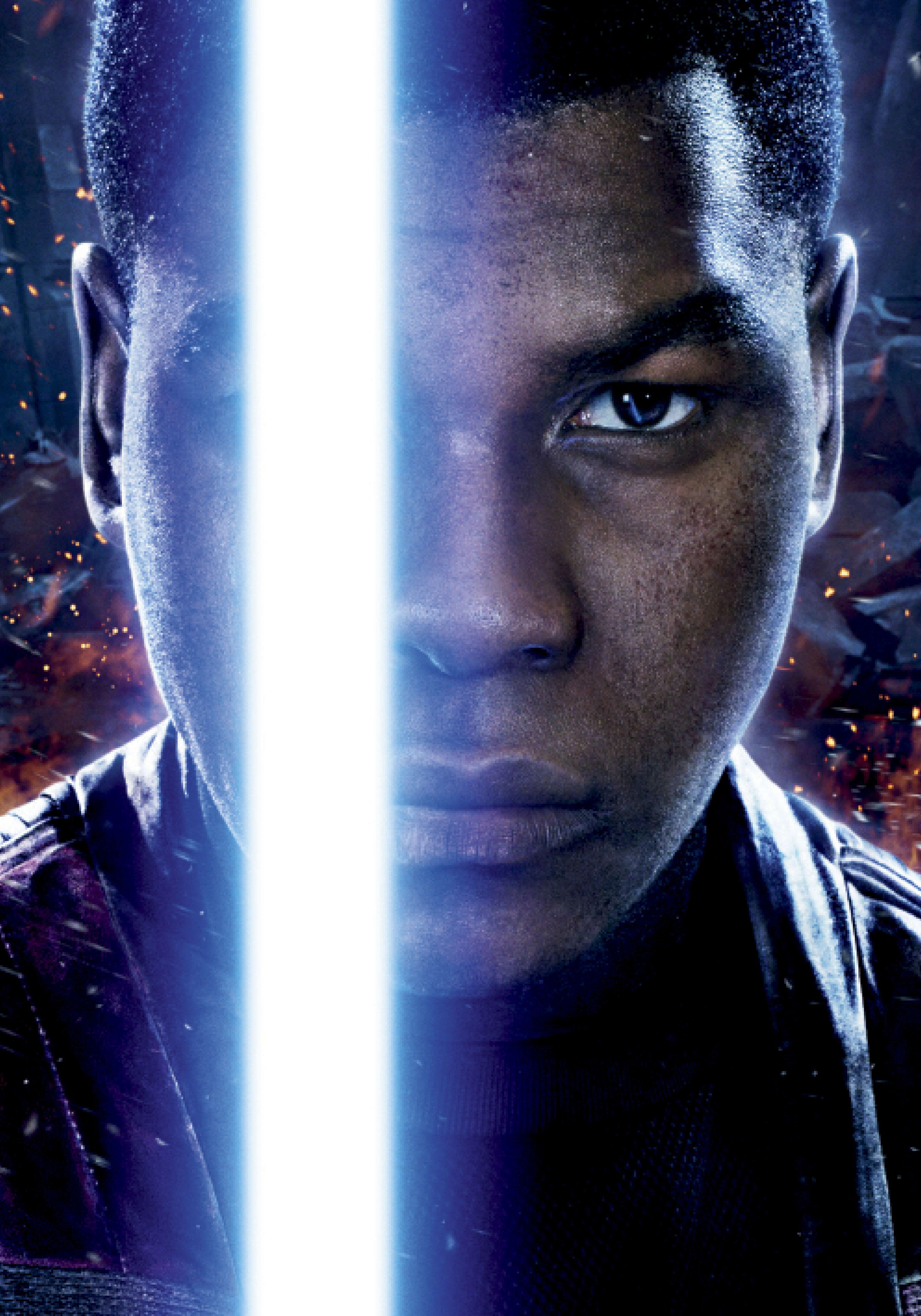 """John in a promotional poster for """"Star Wars: The Force Awakens."""""""
