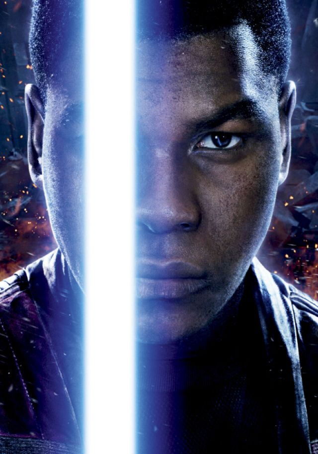 "John in a promotional poster for ""Star Wars: The Force Awakens."""