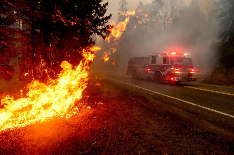 """""""The wildfire situation throughout California is dangerous and must be taken seriously,"""" Randy Moore, regional fo"""
