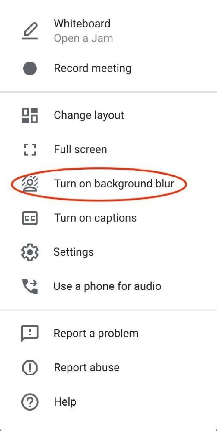 """Select the """"blur"""" option to put your background out of focus."""