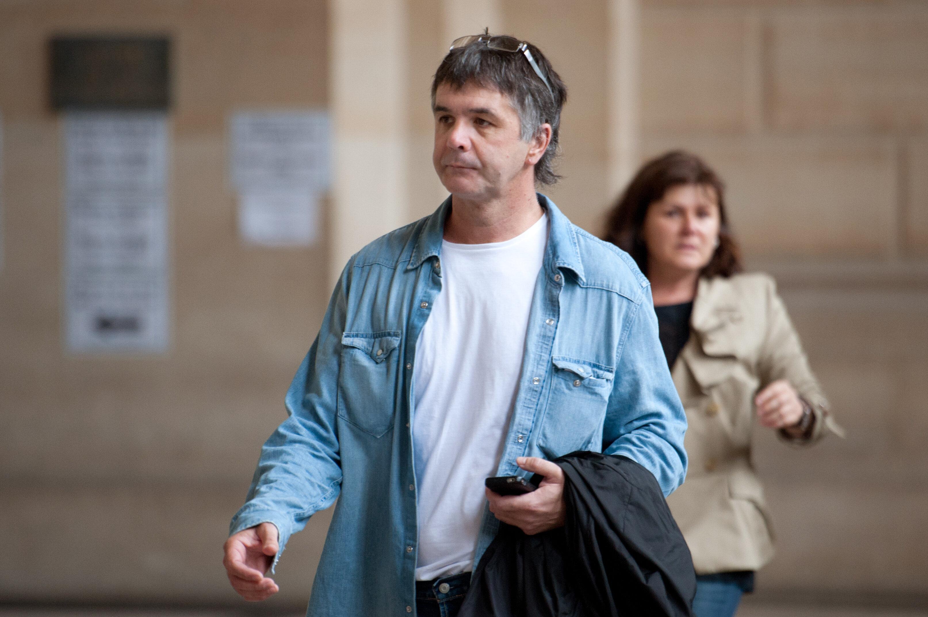 Stephane Colonna et Christine Colonna en 2011, le dernier jour du procès en appel d'Yvan leur...