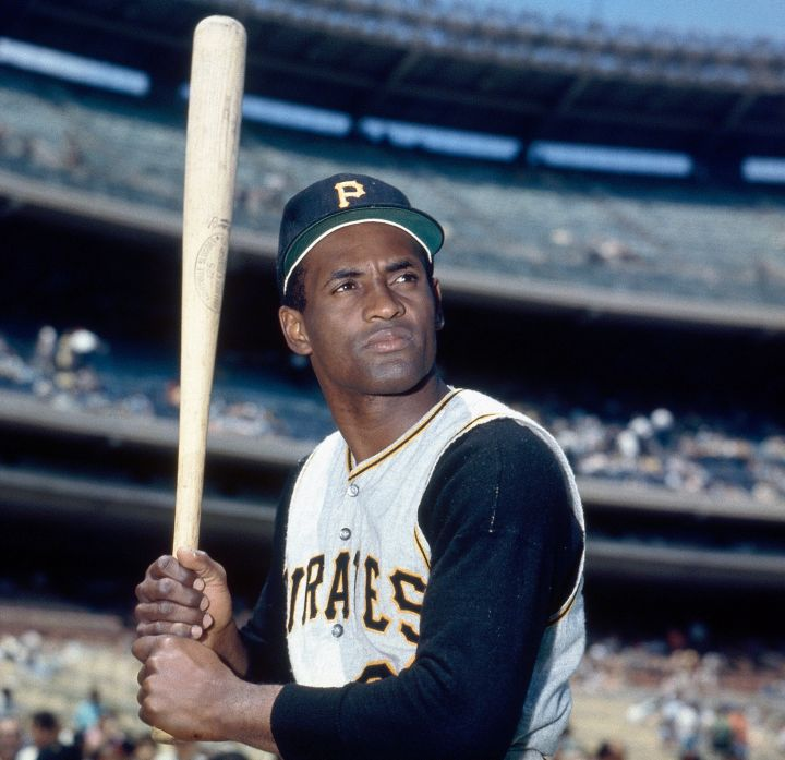 Roberto Clemente of the Pittsburgh Pirates was mocked by the media for his strong accent but pushed through to become a baseball great and a beloved humanitarian for his people and others.