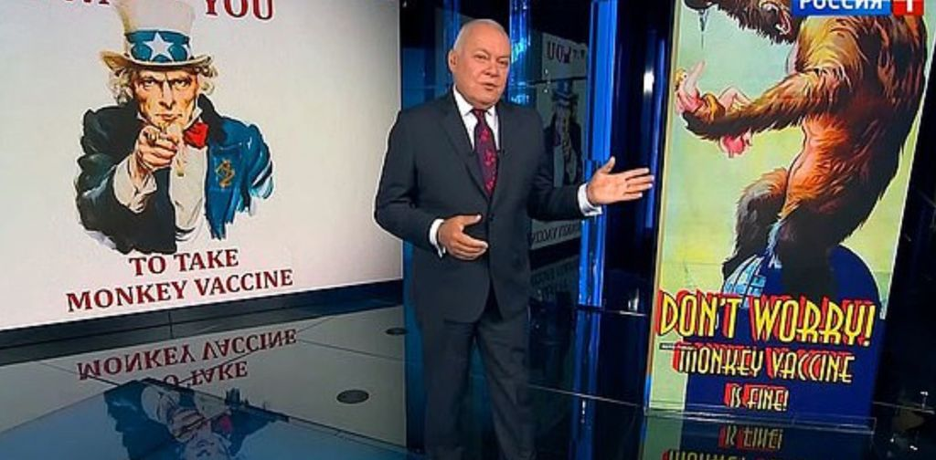 Bizarre Russian Disinformation Campaign Claims UK Covid Vaccine Will Turn You Into A Monkey