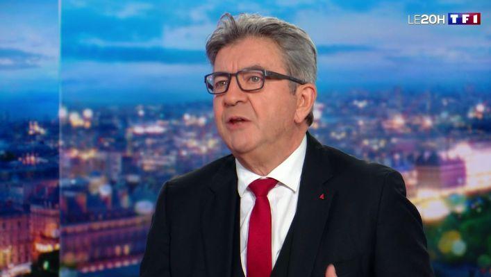 Jean-Luc Mélenchon sur le plateau de TF1 dimanche 8