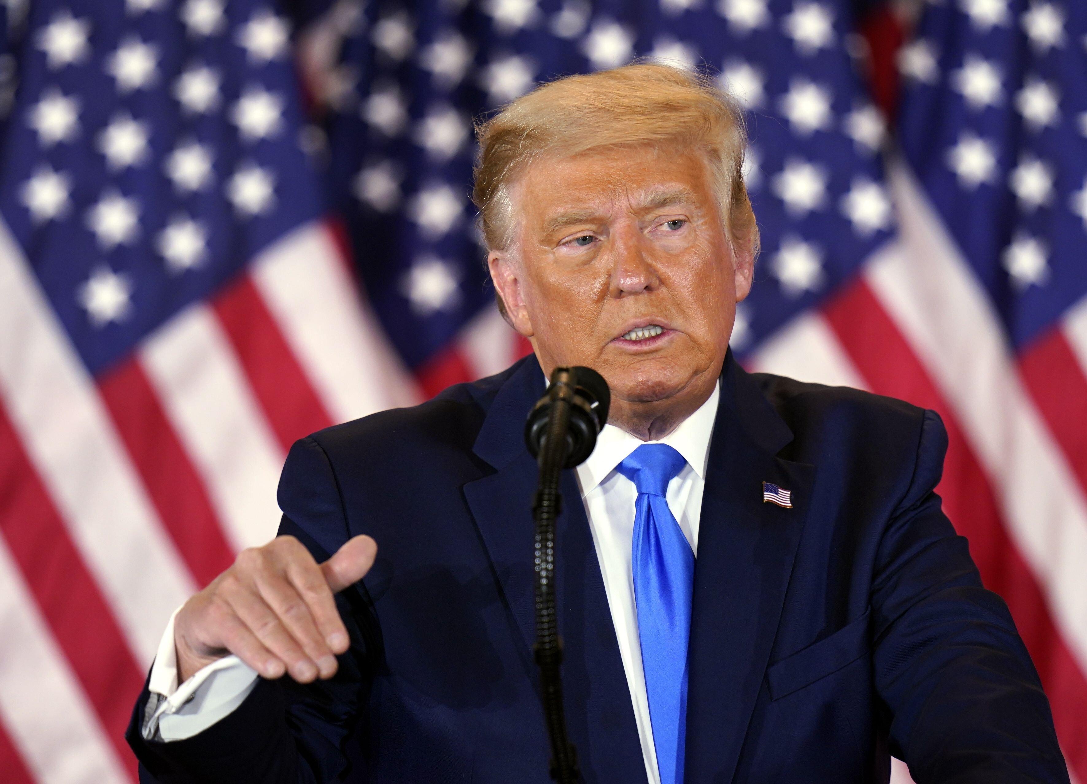 Donald Trump speaking election night.