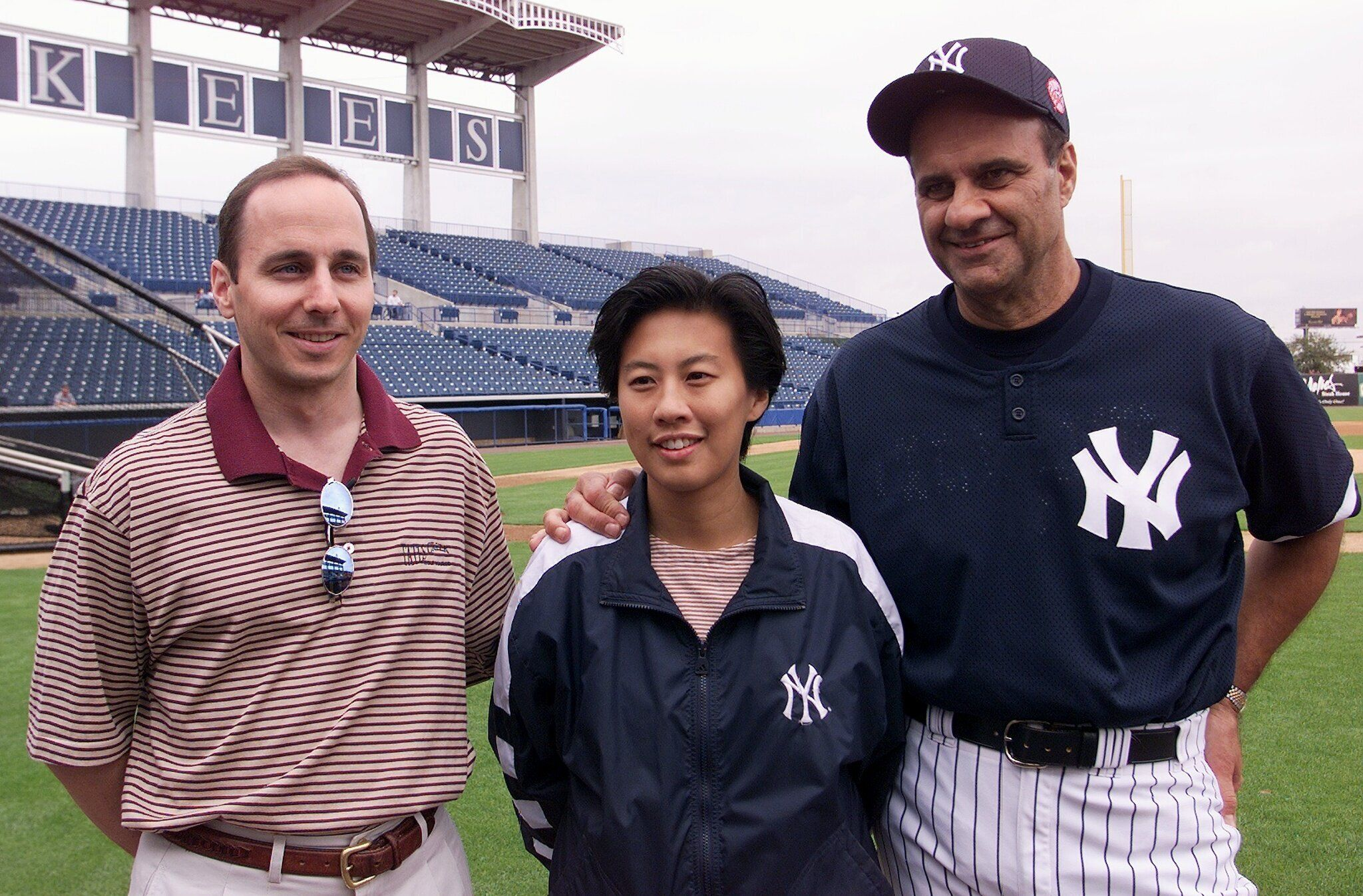 Kim Ng, then an executive with the Yankees, with general manager Brian Cashman and then manager Joe Torre around 2000.