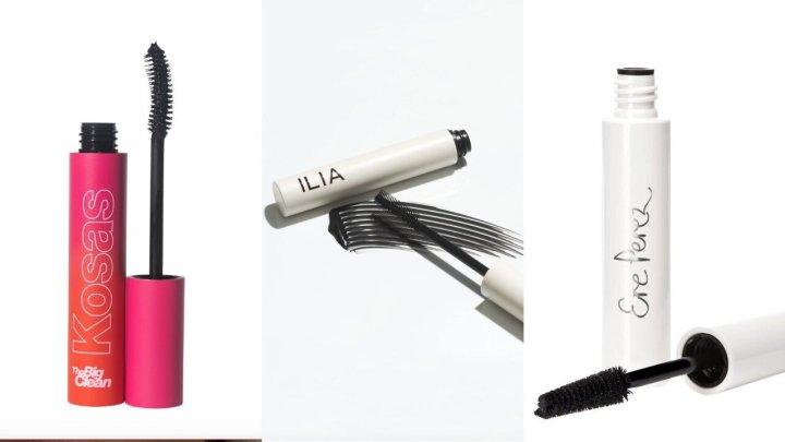 "<a href=""https://kosas.com/products/the-big-clean-mascara"" target=""_blank"" rel=""noopener noreferrer"">Kosas The Big Clean mascara</a>, $26,<a href=""https://iliabeauty.com/products/after-midnight"" target=""_blank"" rel=""noopener noreferrer""> Ilia Limitless Lash mascara</a>, $28, and&nbsp;<a href=""https://credobeauty.com/products/avocado-waterproof-mascara?variant=47388900300&amp;utm_medium=cpc&amp;utm_source=google&amp;utm_campaign=Google%20Shopping&amp;gclid=Cj0KCQiAqdP9BRDVARIsAGSZ8AnaY3bWjz53oO_IZ89MaumPmPg6N8k1uZdSZ44m3nuCzNVYN-_5n4QaAleXEALw_wcB"" target=""_blank"" rel=""noopener noreferrer"">Ere Perez Avocado Waterproof mascara</a>, $25"