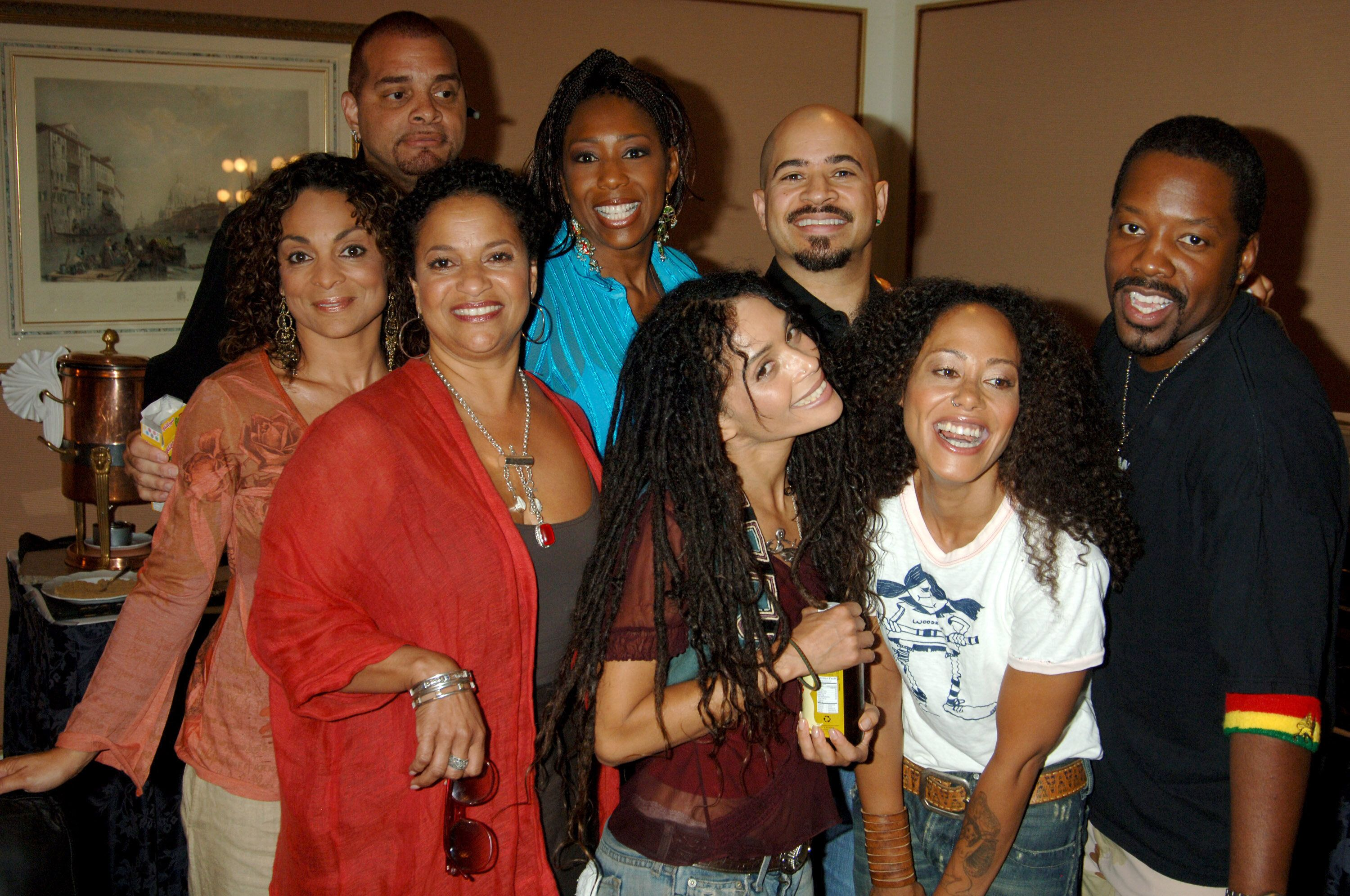 "Allen and the cast of ""A Different World,"" including Lisa Bonet, at a reunion in 2006."
