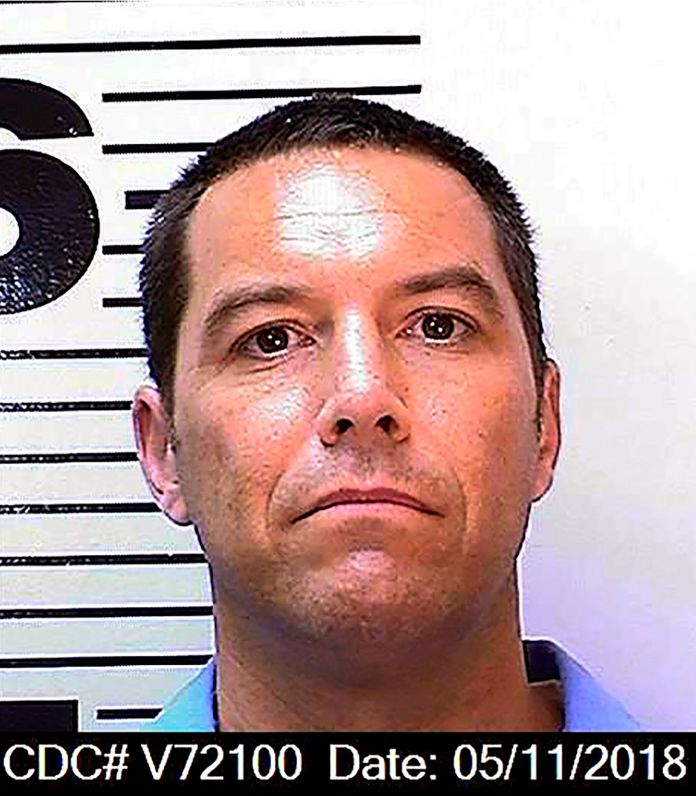 A California prosecutor said someone filed an unemployment claim in the name of convicted murderer Scott Peterson.