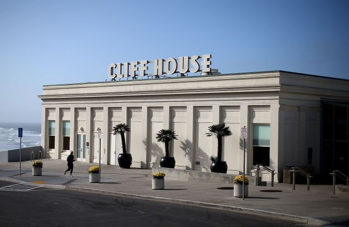 A view of the Cliff House restaurant on October 10, 2013 in San Francisco. Due to the government shutdown, the iconic 150 year-old Cliff House restaurant, a concessionaire of the Golden Gate National Recreation Area, has been forced to close its doors until the government shutdown ends.