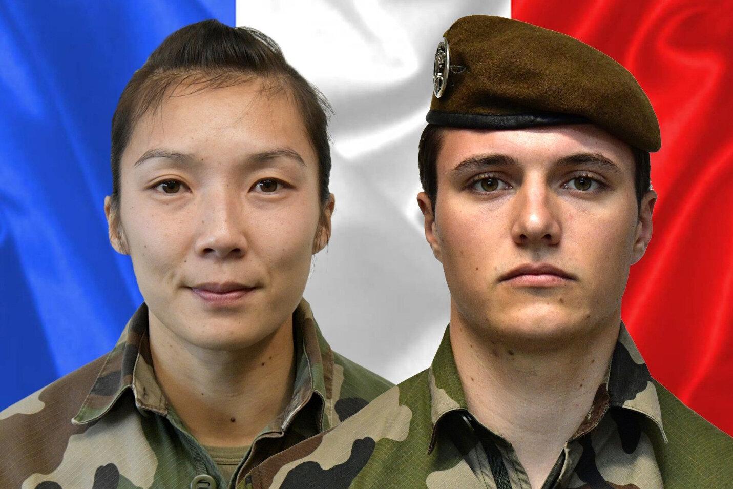 Le sergent Yvonne Huynh et le brigadier Loïc Risser