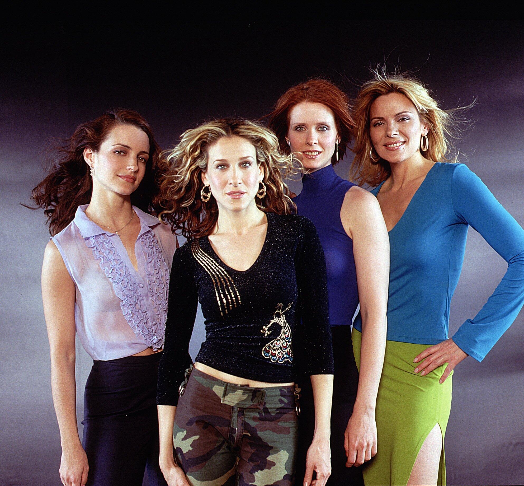 L-R: Kristin Davis, Sarah Jessica Parker, Cynthia Nixon and Kim Cattrall in Sex And The