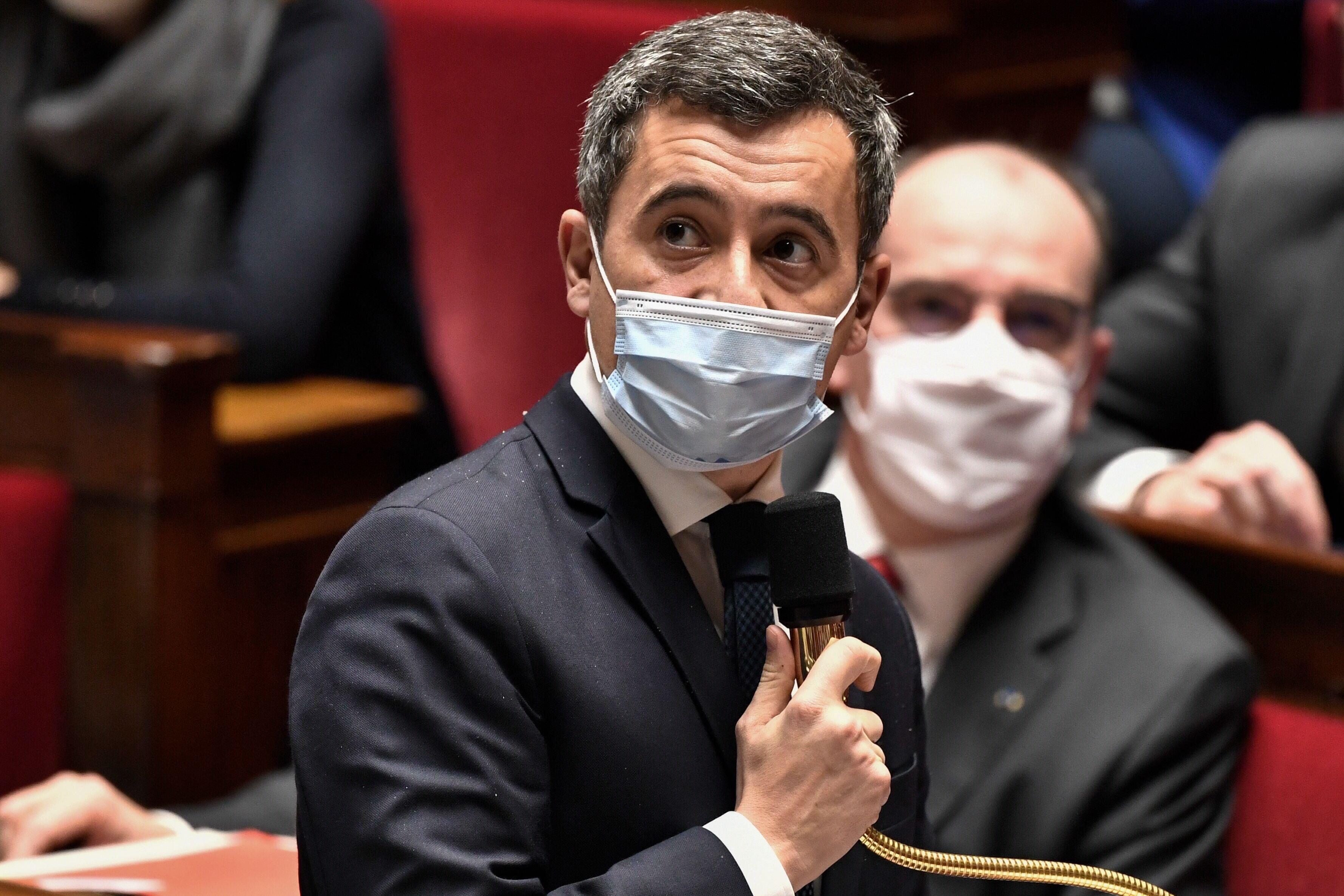 Gérald Darmanin à l'Assemblée nationale au mois de janvier
