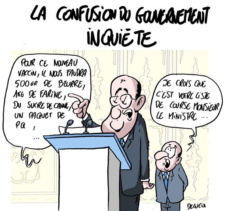 La confusion totale du gouvernement inquiète les Français.