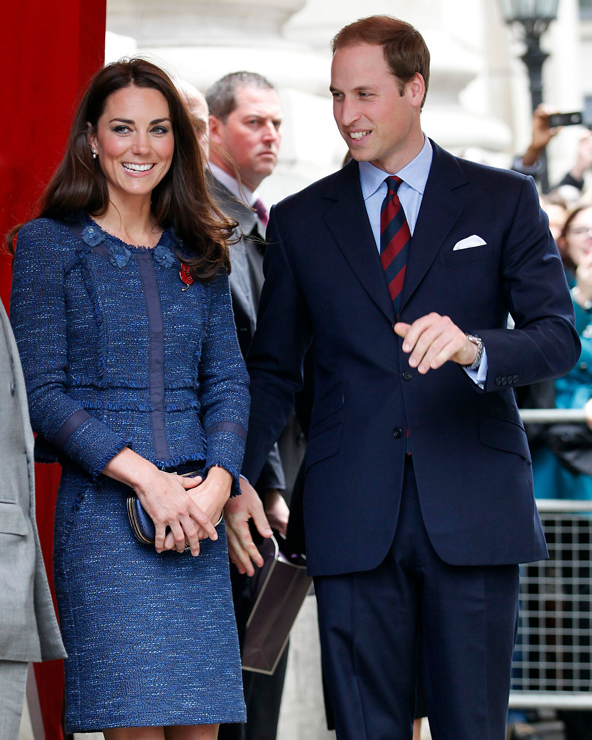 The Duke and Duchess of Cambridge leave after attending a Reception For The Scott-Amundsen Centenary Race at Goldsmiths' Hall