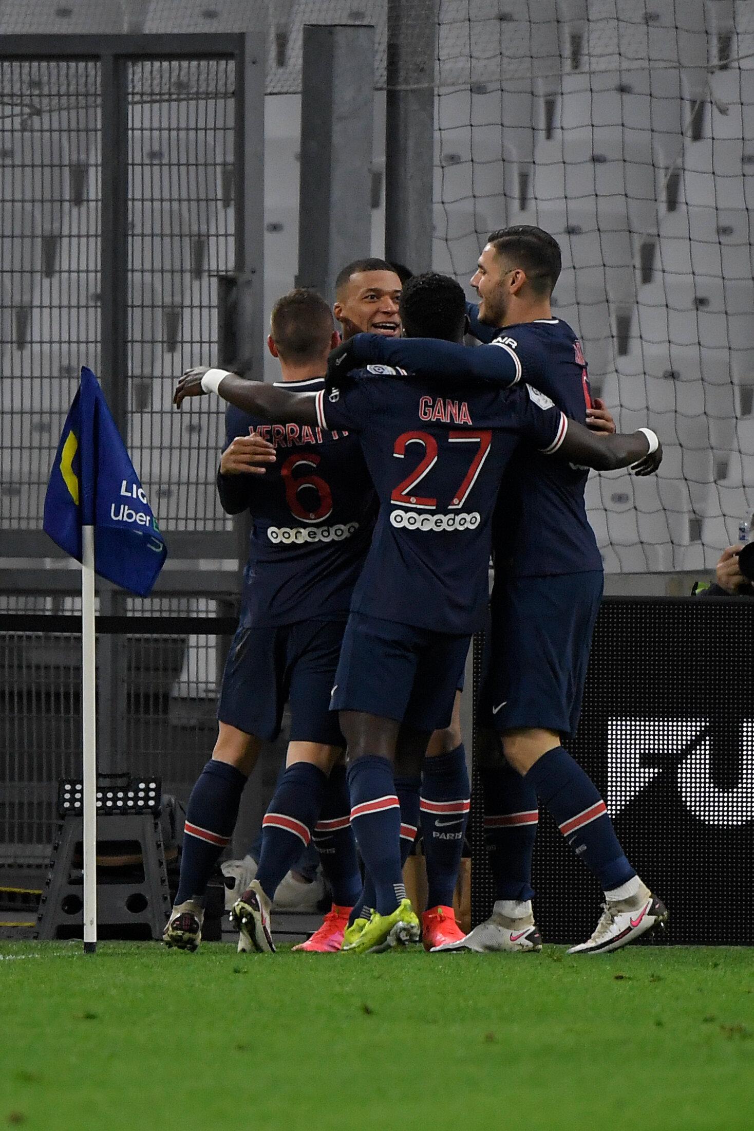 OM/PSG: les résultats et buts du match de Ligue 1 (Kylian Mbappe et ses coéquipiers au stade Vélodrome...
