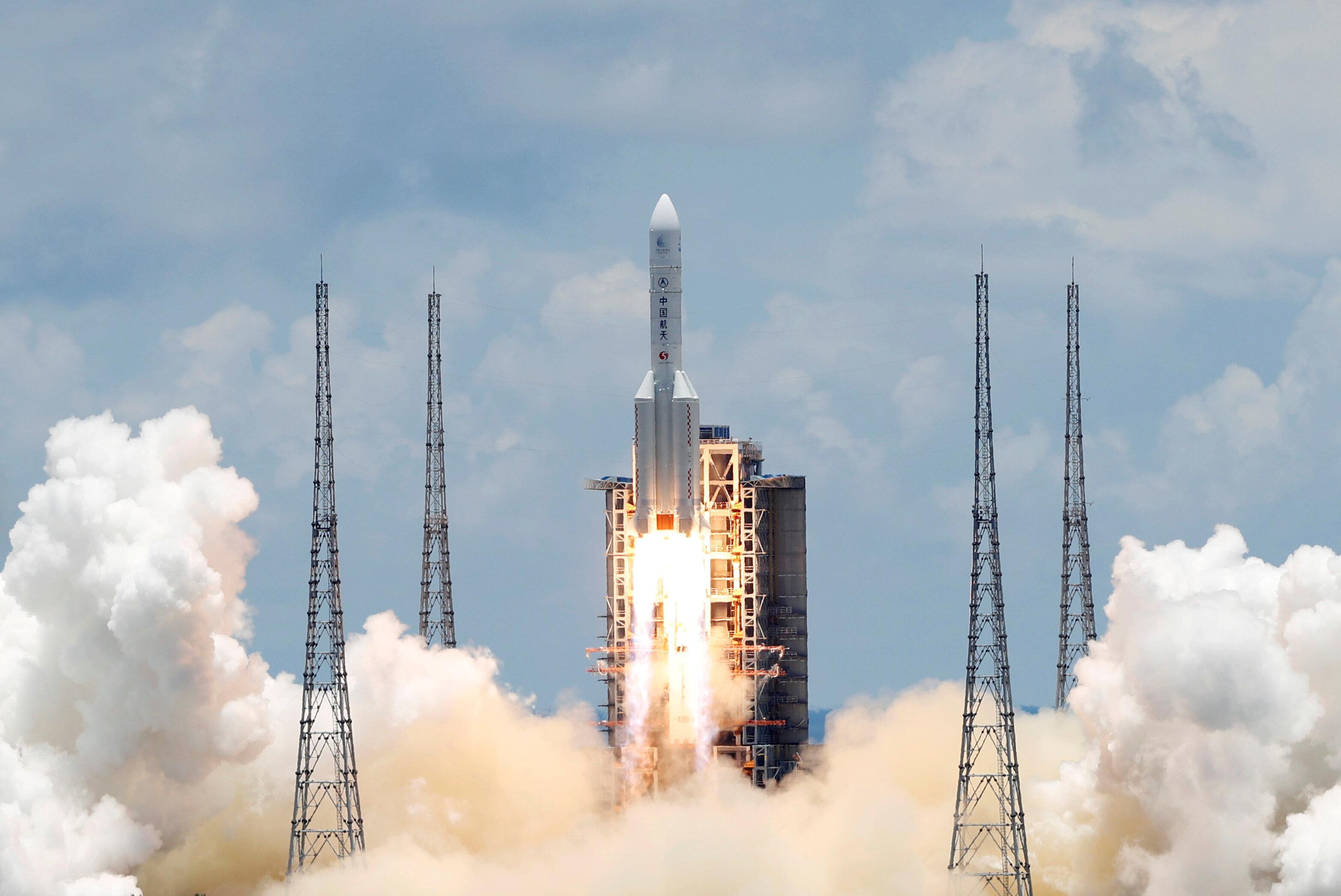 La mission Tianwen-1 a été lancée le 23 juillet du centre spatial de Wenchang situé...