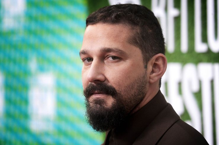 """Shia LaBeouf attends """"The Peanut Butter Falcon"""" U.K. Premiere on October 3, 2019, in London, England."""