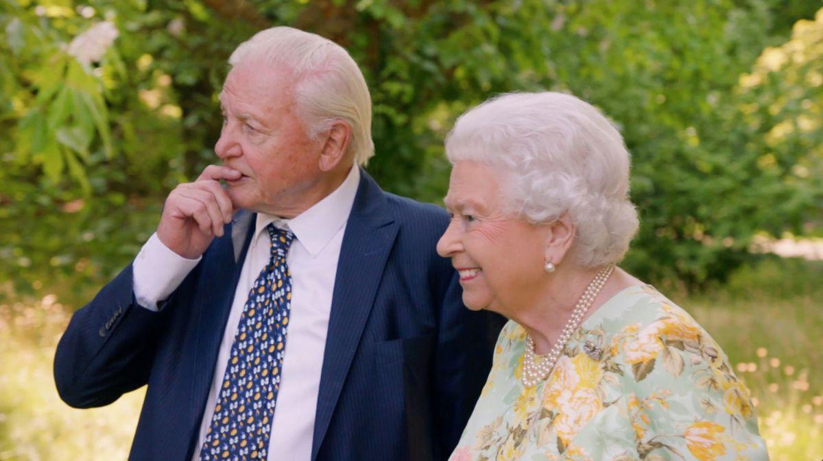 Queen Elizabeth II and David