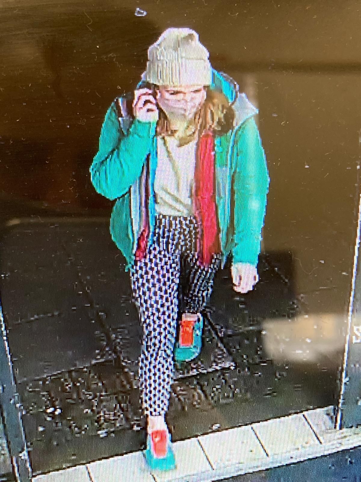 A CCTV image of Sarah Everard on the night she went
