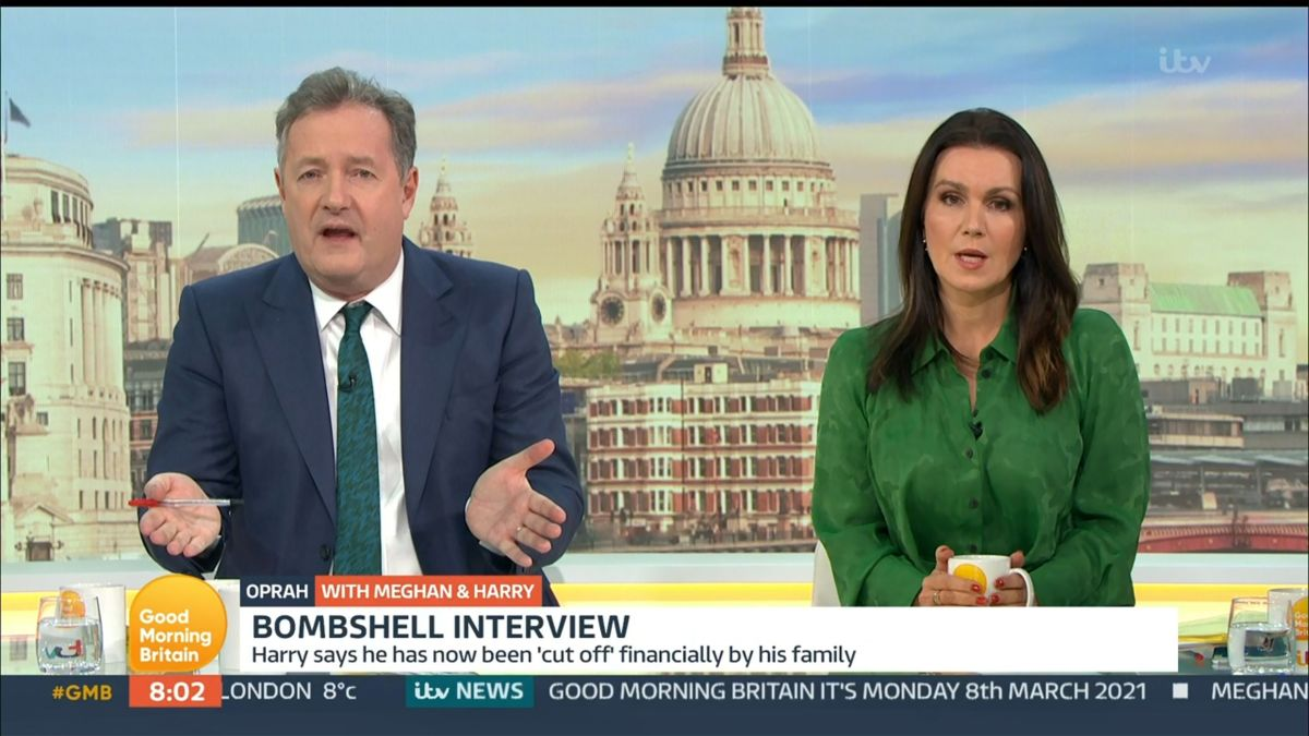 Piers Morgan and Susanna Reid on Good Morning Britain earlier this