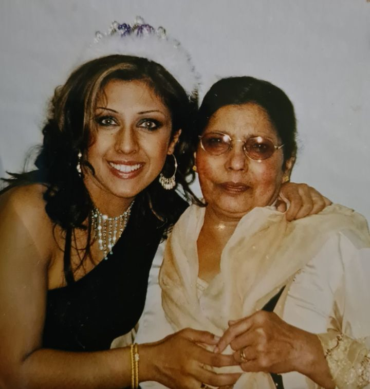 Narinder Kaur and her mother