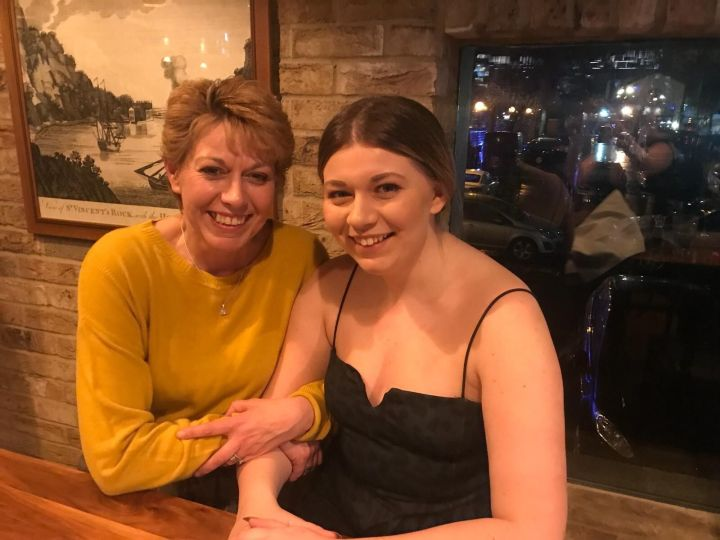 Tamsin Oakey and her mum