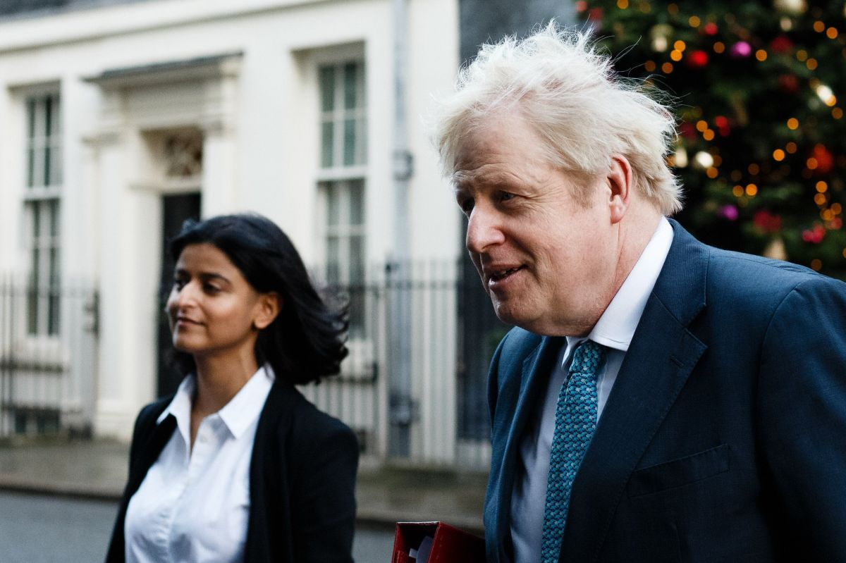 Boris Johnson and his policy chief Munira Mirza, whose appointment to lead the review has proved