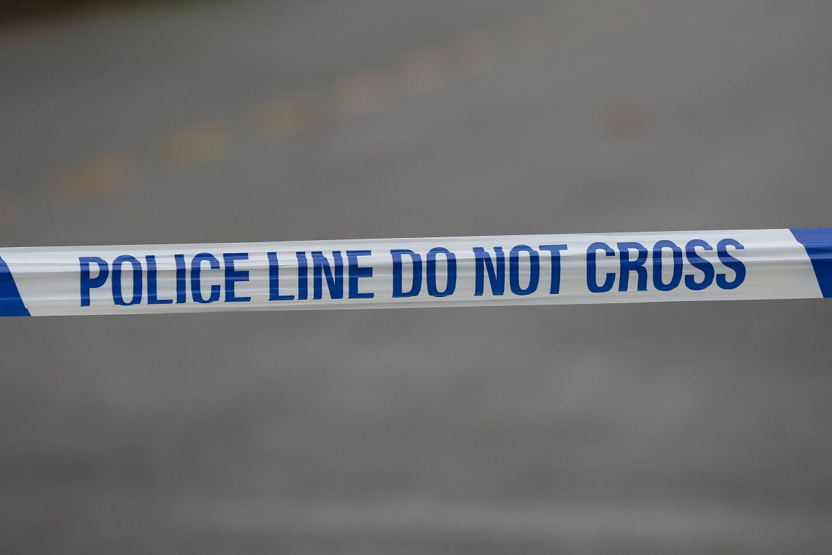 LONDON, UNITED KINGDOM - 2021/01/20: A police tape at a crime scene in London. (Photo by Dinendra Haria/SOPA...