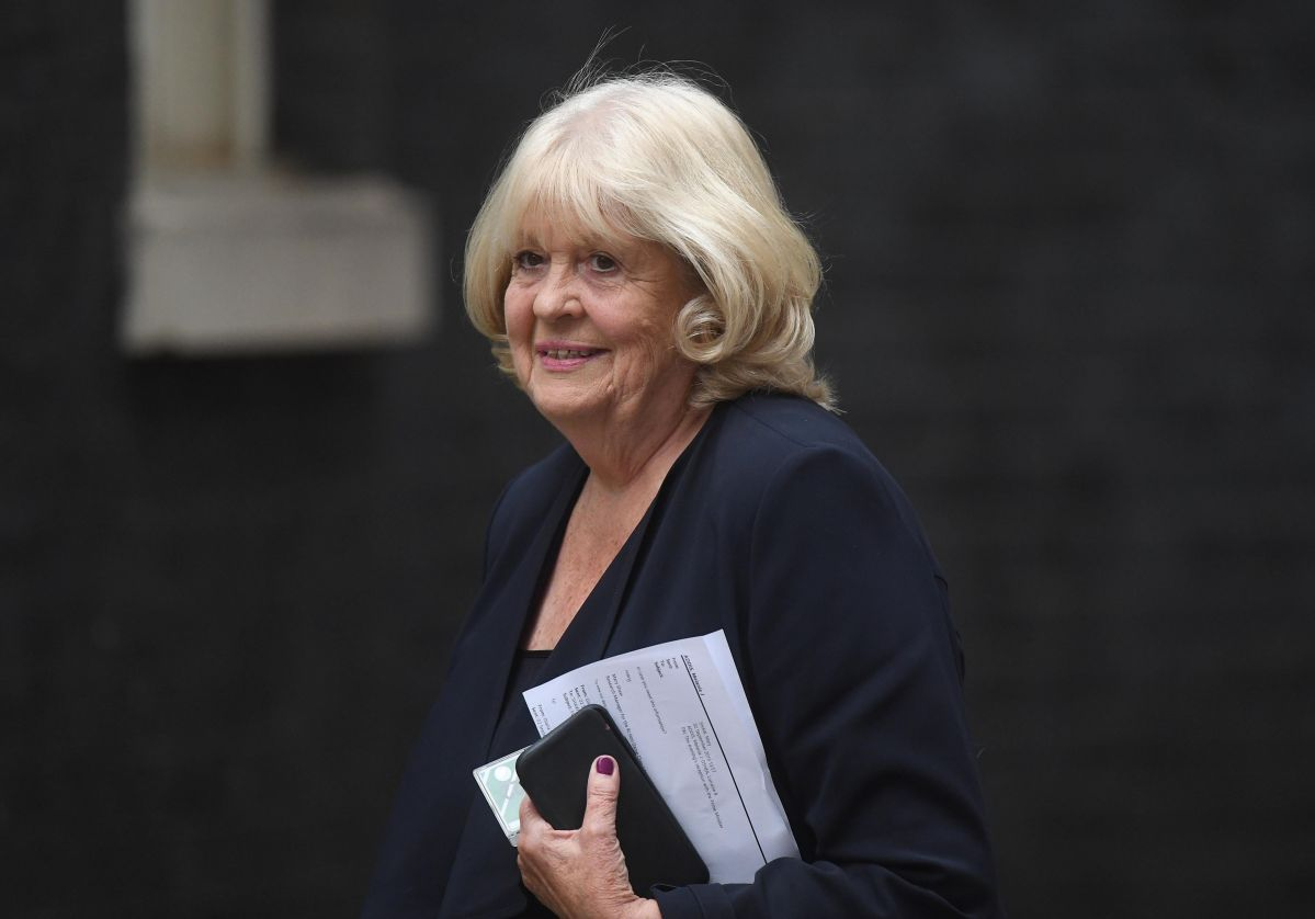 Dame Cheryl Gillan arriving for meeting being held at 10 Downing Street, central London. (Photo by Victoria...
