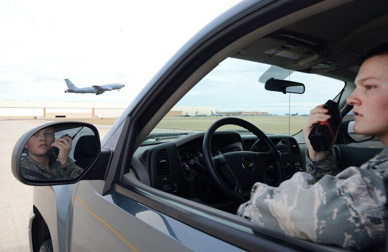 Airman 1st Class Dannion Phillips at Tinker Air Force Base in Oklahoma in 2018, the same year he joined Identity Evropa.