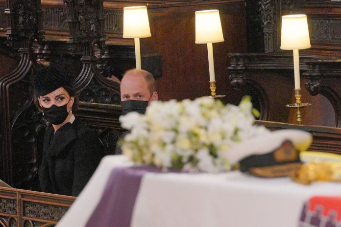 Prince William and Kate Middleton at St. George's Chapel during the service.