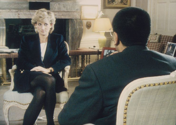 "Martin Bashir interviewed Princess Diana in Kensington Palace for the television program ""Panorama"" in 1995. (Photo by ©"
