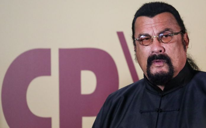 Steven Seagal was introduced as a new member of the A Just Russia - Patriots - For Truth party at the weekebd