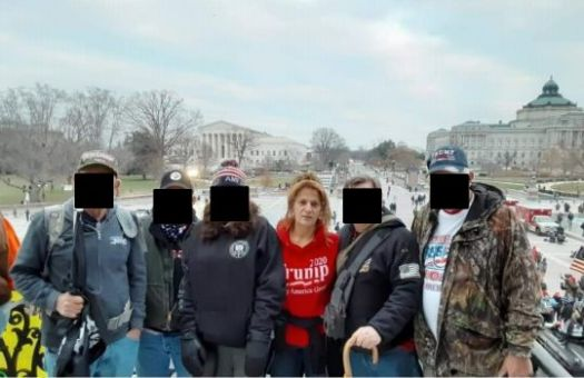 The FBI said a tipster alerted it to an image of Weyer at the U.S. Capitol that was posted on Facebook.