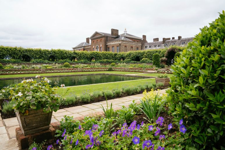 The redesigned Sunken Garden at Kensington Palace — home to the new Diana, Princess of Wales, statue.