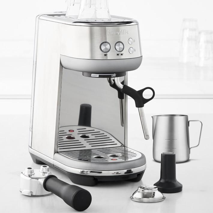 "<strong><a href=""https://go.skimresources.com/?id=38395X987171&xs=1&xcust=coffeemaker-KristenAiken-080321-&url=https%3A%2F%2Fwww.williams-sonoma.com%2Fproducts%2Fbreville-the-bambino-espresso-machine%2F%3FcatalogId%3D79%26sku%3D5821136%26cm_ven%3DPLA%26cm_cat%3DGoogle%26cm_pla%3DElectrics%2520%253E%2520Espresso%2520Makers%26region_id%3D669950%26cm_ite%3D5821136%26gclid%3DCjwKCAjwgISIBhBfEiwALE19Sdn5Sl6n9qf5cskDaoOhWFyfG-S-mcAdFAngC6Z6AeFM9LGSNjnHhRoCwf0QAvD_BwE"" target=""_blank"" role=""link"" rel=""sponsored"" data-ylk=""subsec:paragraph;itc:0;cpos:__RAPID_INDEX__;pos:__RAPID_SUBINDEX__;elm:context_link"">Get the Breville Bambino Espresso Machine for 9.95.</a></strong>"
