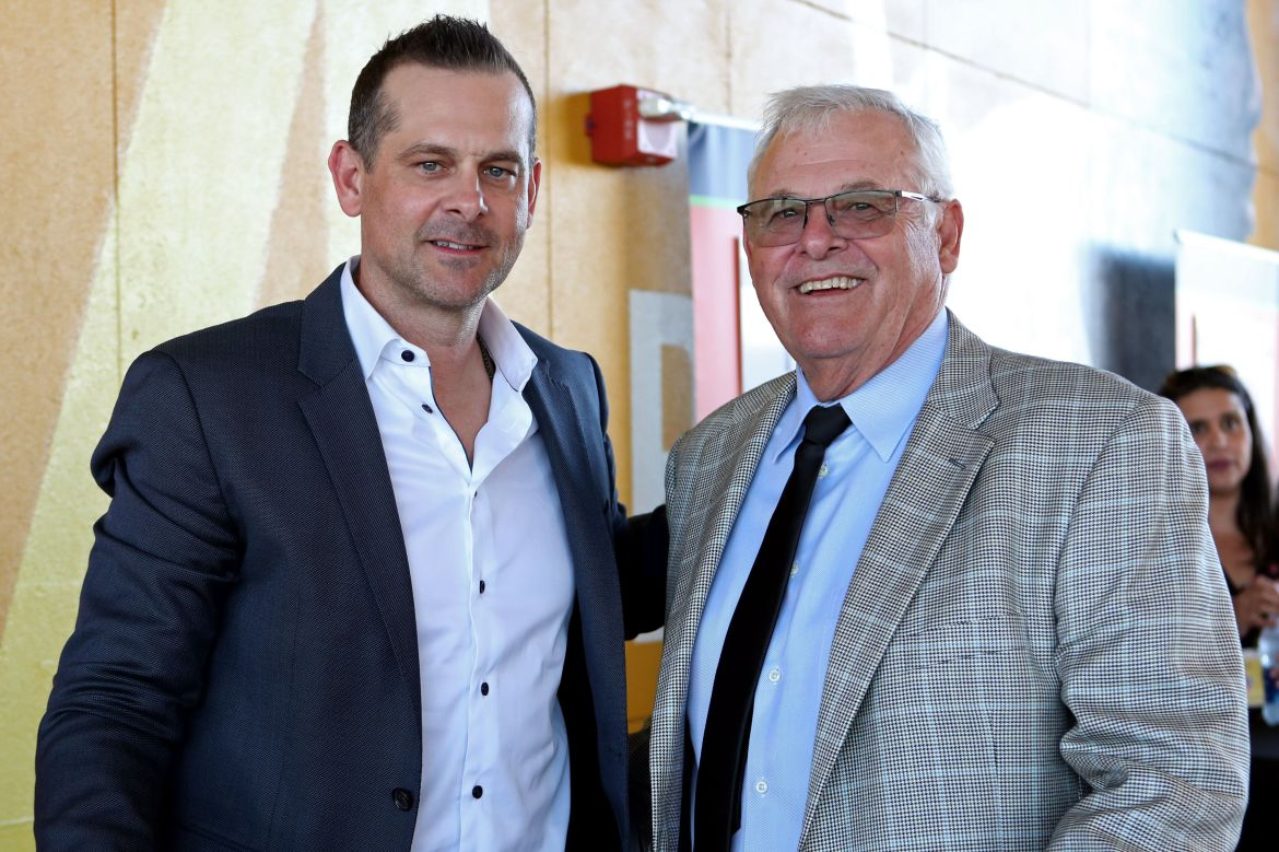 Washington Nationals Vice President Bob Boone, pictured with his son, Yankees manager Aaron Boone, won't comply with his team