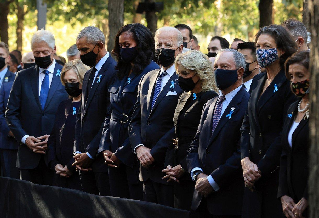 The Clintons, Obamas, House Speaker Nancy Pelosi and former New York City Mayor Michael Bloomberg joined President Joe Biden