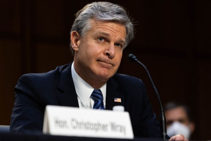 FBI Director Christopher Wray on Wednesday testifies during a hearing about how the FBI handled its investigation into Larry