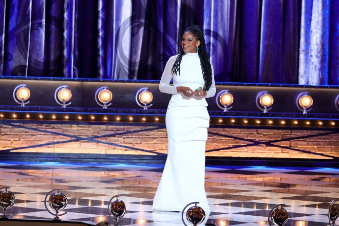 Audra McDonald hosted the 2021 Tony Awards in New York Sunday night.