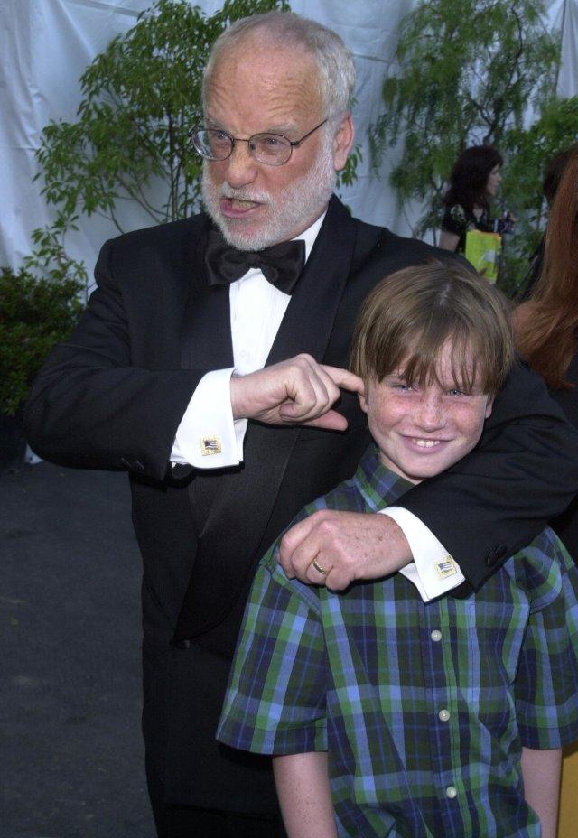 Richard Dreyfuss y su hijo Harry en el año 2000.