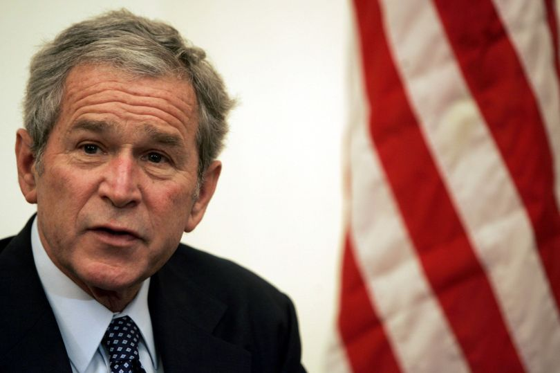 "<span class='image-component__caption' itemprop=""caption"">The Onion warned that the Iraq War, launched by President George W. Bush, would ""fan the flames of hatred even higher.""</span>"